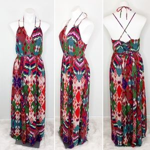 💜Anthropologie Maeve Multi Color Maxi Dress